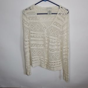White Stag sweater.button up size small